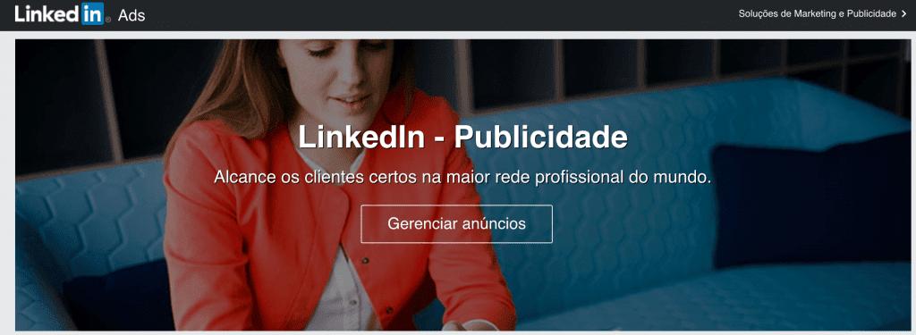 Anúncios no LinkedIn