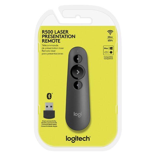 Apresentador Logitech Sem Fio R500 Com Laser Point
