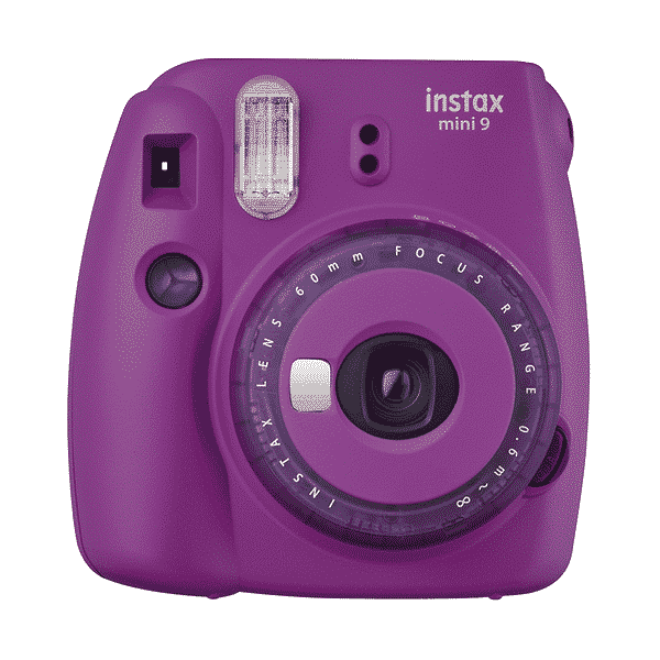 Câmera Instantânea Fujifilm Instax Mini 9 + Pack 10 poses + Bolsa - Roxo Açaí