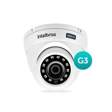 Camera Intelbras Multi HD Dome VHD 3120D G3 720p 20Mts 2.8mm - HDCVI, HDTVI, AHD, ANALÓGICO