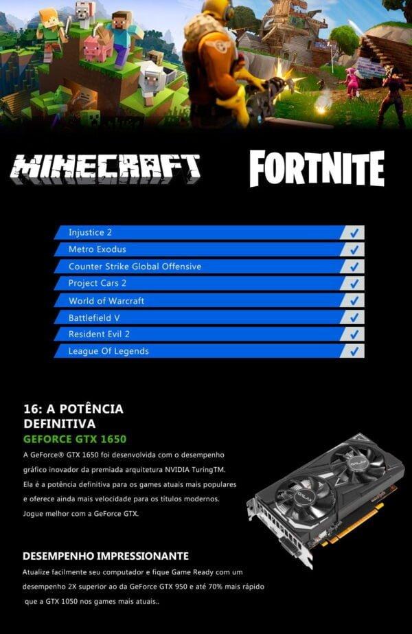 Computador Gamer Fight Field RX 570 4GB, Intel I3 9100F, 8GB, 1TB