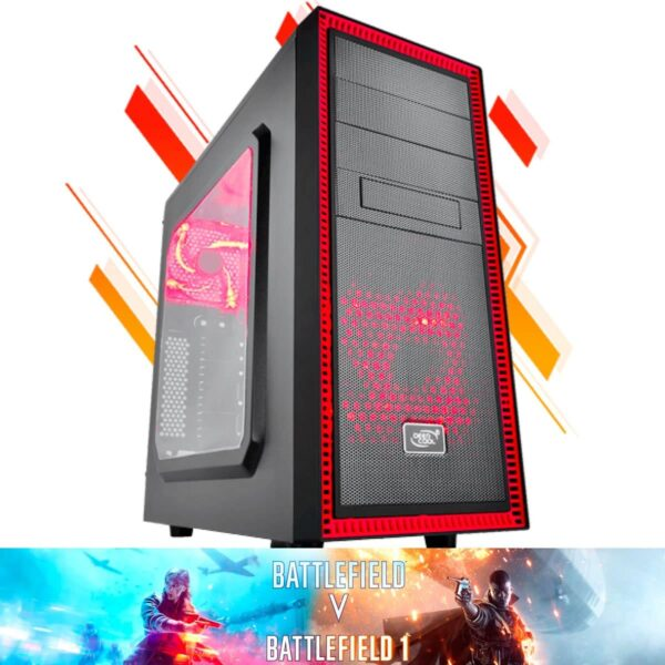 Computador Gamer Guerrila RX 580 8GB, Intel I5 9400F, 8GB, 1TB