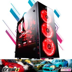 Computador Gamer Racing RX 580 8GB, Intel I7 9700, 16GB, 1TB