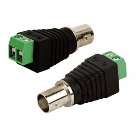 Conector BNC Femea Com Borne - CFTV