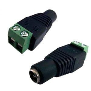 Conector P4 de Energia Com Borne Femea - CFTV
