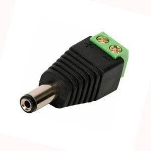 Conector P4 de Energia Com Borne Macho - CFTV
