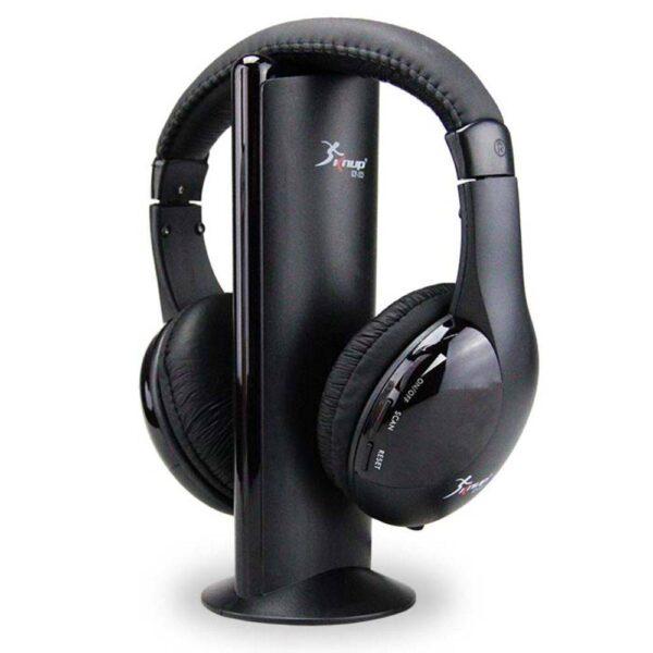 Fone de Ouvido Wireless 5 em 1 Com FM Knup KP-323 (TV,PC)