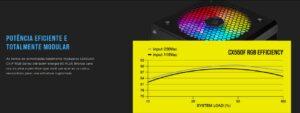 Fonte Corsair CX550F, 550W, 80 Plus Bronze - RGB
