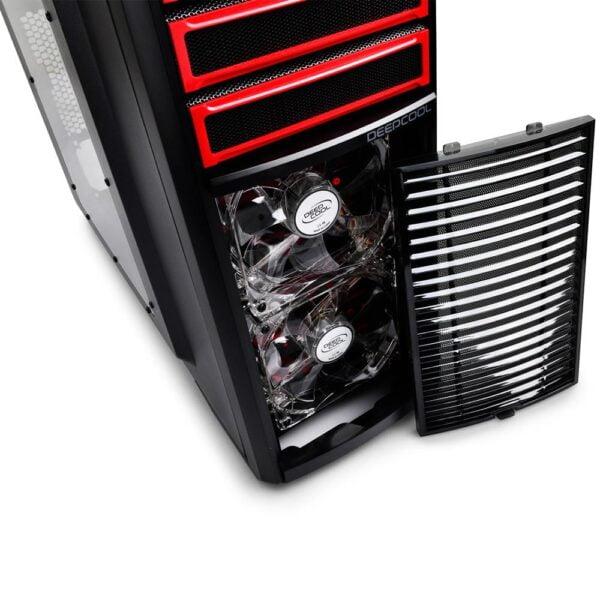 Gabinete Gamer ATX Deepcool Kendomen Red Sem fonte