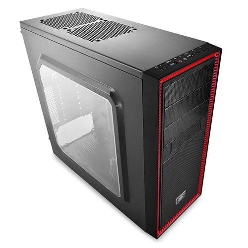 Gabinete Gamer ATX Deepcool Tesseract Red Sem fonte