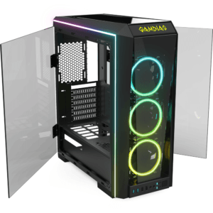 Gabinete Gamer RGB ATX Gamdias Talos P1 Mid Tower
