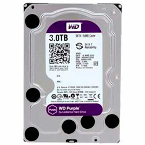Hd 3Tb Wd Western Digital Dvr Sata 3 64Mb Cache Purple WD30PURX