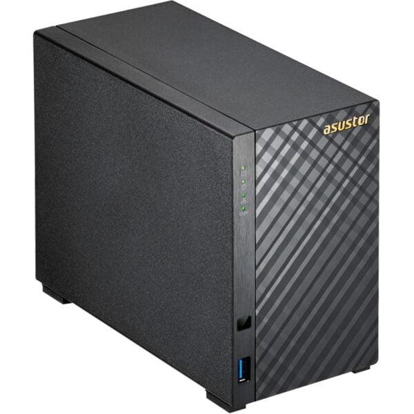 Hd Externo Nas Asustor 2 Baias Dual Core 1.6GHz Com HD 2x4TB – AS1002T8000 V2