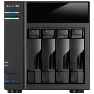 Hd Externo Nas Asustor 4 Baias Quad Core 1.5/2.3GHz S/ HD – AS6404T