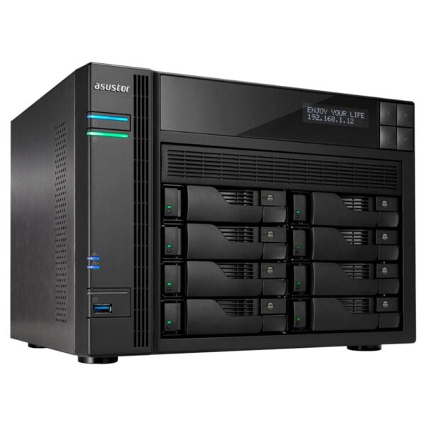 Hd Externo Nas Asustor 8 Baias Quad Core 1.6/2.24GHz S/ HD - AS6208T