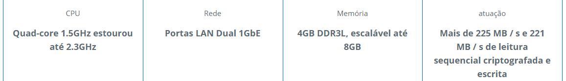 /></p><p><b>Satisfaça a sua necessidade de desempenho e capacidade<br /> </b>O DS918 + suporta até dois SSDs M.2 NVMe 2280, permitindo a criação rápida de cache do sistema sem ocupar baías de unidade internas. Escalável até 9 unidades com uma Unidade de Expansão Synology DX517, DS918 + responde a necessidade de capacidade de armazenamento flexível.</p><p><img  loading=