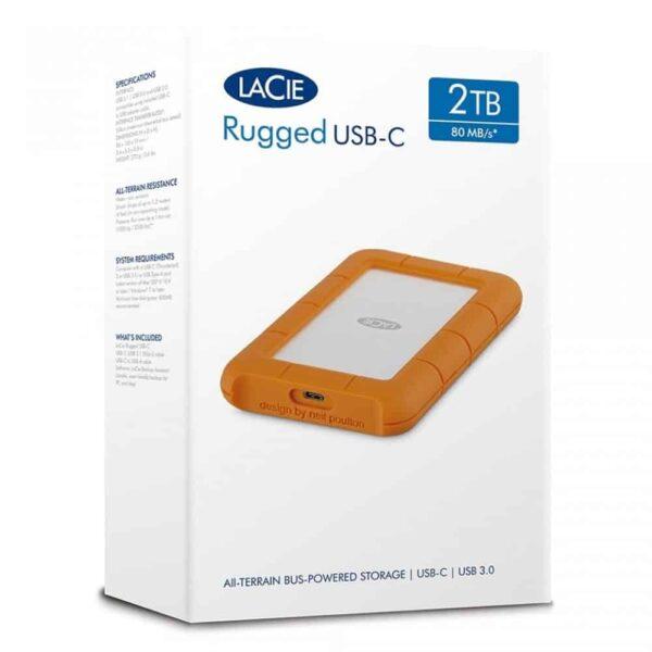 HD Externo Portátil 5TB LaCie Rugged USB-C USB3.0 - STFR5000800