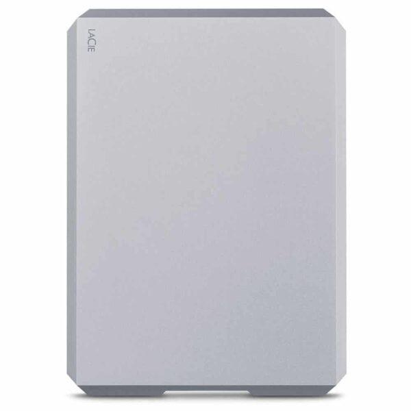 HD Externo Portátil LaCie 1TB Mobile Drive Moon Silver USB-C e USB 3.0 - STHG1000400