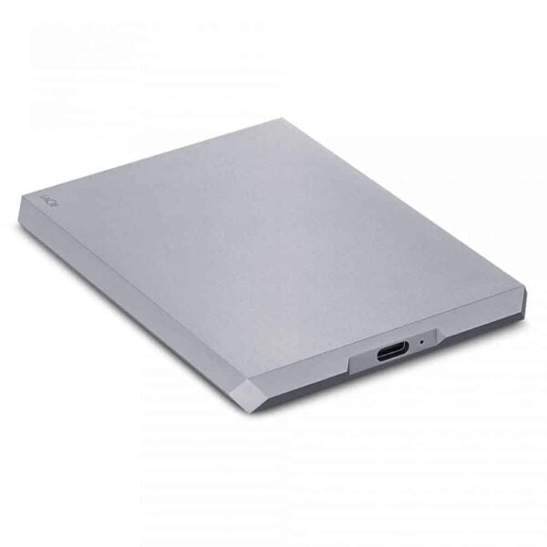 HD Externo Portátil LaCie 2TB Mobile Drive Moon Silver USB-C e USB 3.0 - STHG2000400