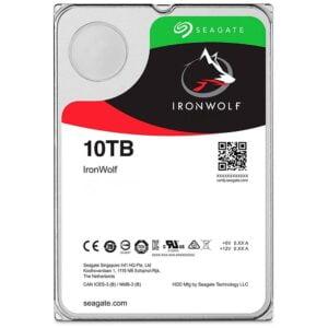HD Interno 10Tb Seagate IronWolf NAS 7200RPM 256MB Cache Sata 6.0Gb/s - ST10000VN0004