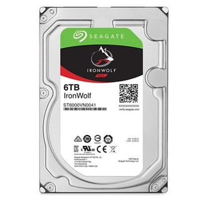 HD Interno 6Tb Seagate IronWolf NAS 7200RPM 128MB Cache Sata 6.0Gb/s - ST6000VN0041