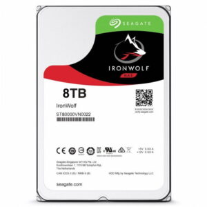 HD Interno 8Tb Seagate IronWolf NAS 7200RPM 256MB Cache Sata 6.0Gb/s - ST8000VN0022