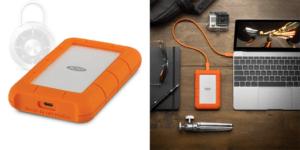 HD LaCie Externo Rugged Mini, 4TB, USB 3.1-C, Clay Orange