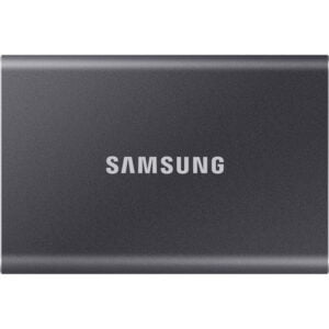 HD SSD Externo 500GB portátil T7 Samsung USB 3.2 - Cinza Titânio