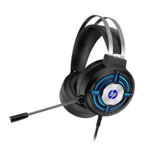Headset Gamer HP H120 P2, USB, Led Azul Com Adaptador P2 3.5mm