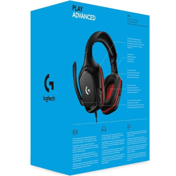 Headset Gamer Logitech G332 Stereo 50mm PC, PS4, Xbox One e Switch