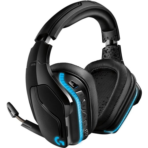 Headset Gamer Logitech Sem Fio G935 RGB Surround 7.1 50mm