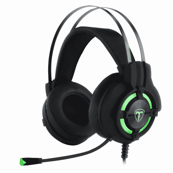Headset Gamer T-Dagger Andes Preto e Verde 40mm - RGH300