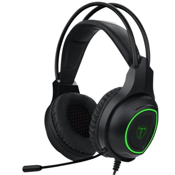 Headset Gamer T-Dagger Atlas Preto e Verde 40mm - T-RGH201