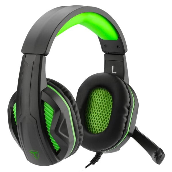 Headset Gamer T-Dagger Cook Preto e Verde 40mm T-RGH100