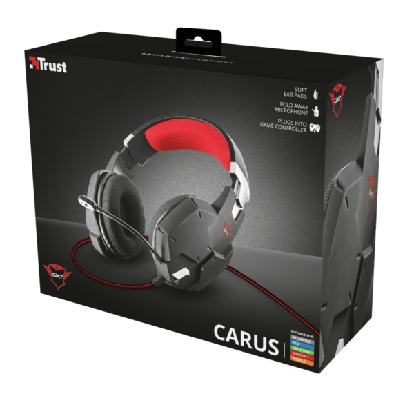 Headset Gamer Trust GXT 322 Carus PS4, Xbox One e PC