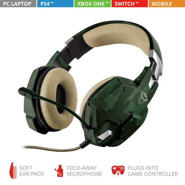 Headset Gamer Trust GXT 322C Carus PS4, Xbox One e PC