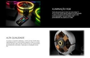 Kit 4 Cooler FAN Gamdias AEOLUS M2-1204R - RGB, 480mm