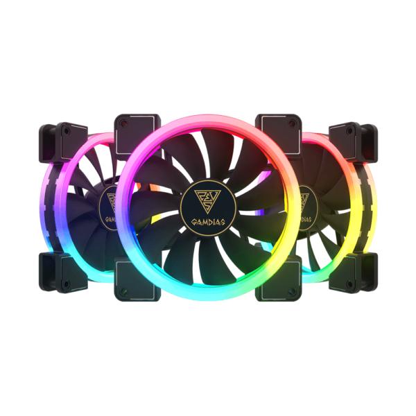 Kit Coolers Fan RGB Gamdias Aeolus M1 3x140mm - 1403R