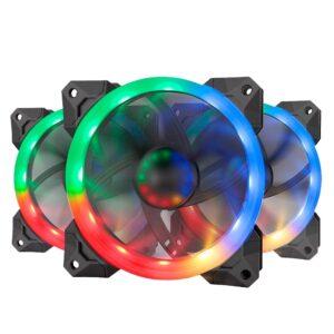 Kit Coolers fan RGB Redragon 3x12mm GC-F008