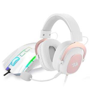 Kit Gamer Redragon Mouse Griffin M607W + Headset Zeus White H510W