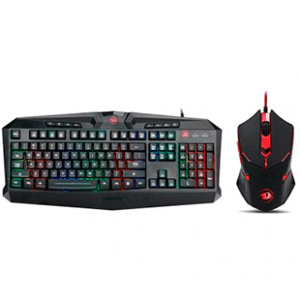 Kit Gamer Redragon Teclado RGB e Mouse S101-1 ABNT2
