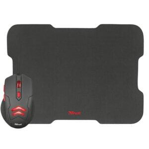 Kit Gamer Trust - Mouse Ziva 3000dpi com fio e Mousepad