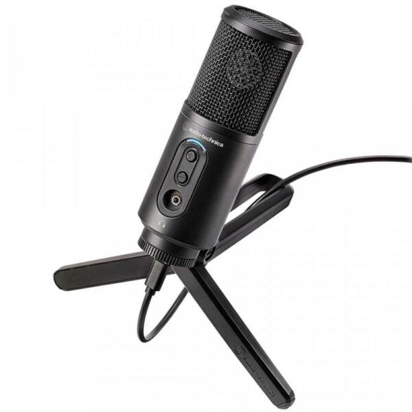 Microfone Cardioide Condensador Com Tripé Audio-Technica USB – ATR2500X-USB