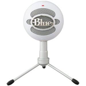 Microfone Condensador Com Tripé USB Blue Snowball Ice Branco