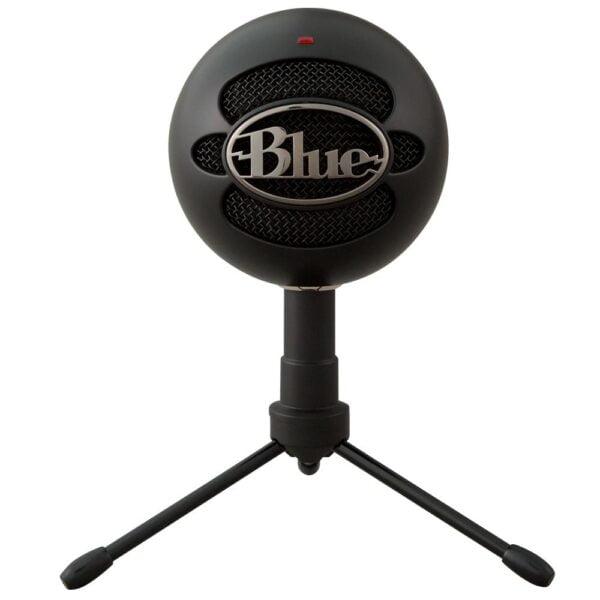 Microfone Condensador Com Tripé USB Blue Snowball Ice Preto
