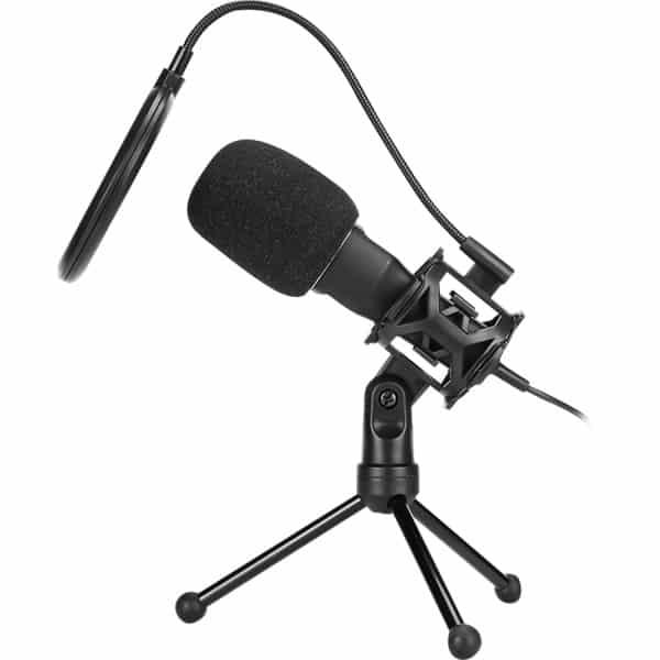 Microfone Gamer Streamer Marvo Scorpion Com Tripé