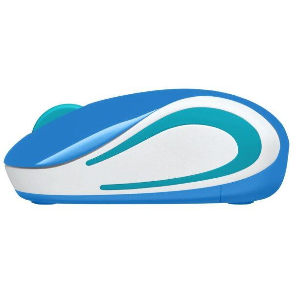 Mini Mouse Sem Fio Logitech M187 Azul 1000DPI