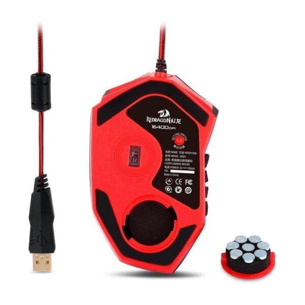 Mouse Gamer Redragon M901 Laser Perdition 16400DPI