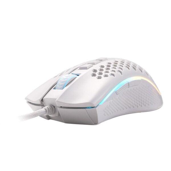 Mouse Gamer Redragon Storm Elite Lunar White RGB 16000 DPI 8 Botões – M988W-RGB