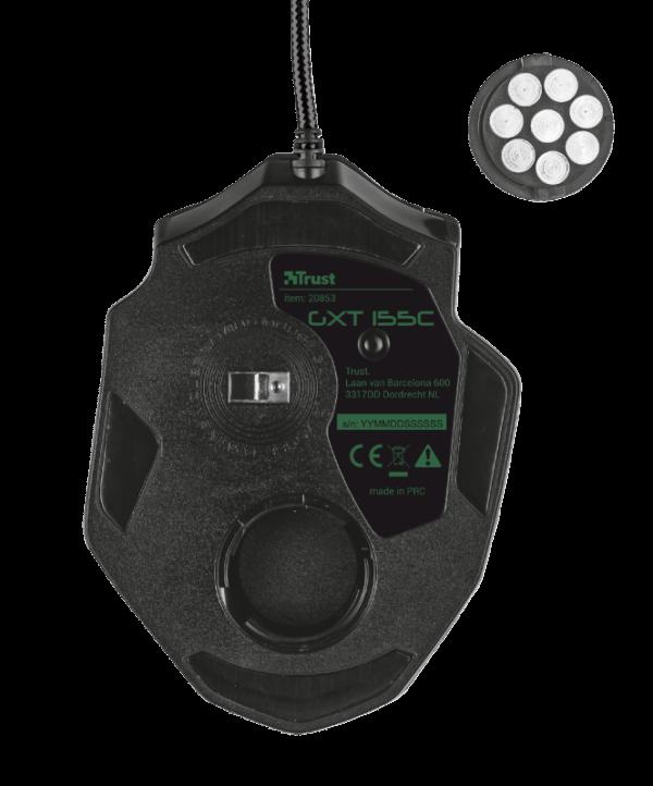 Mouse Gamer Trust GXT 155C Caldor RGB 4000DPI Verde Camuflado